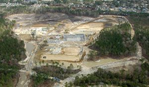 Aerial image of Philip Simmons High School in Charleston, SC